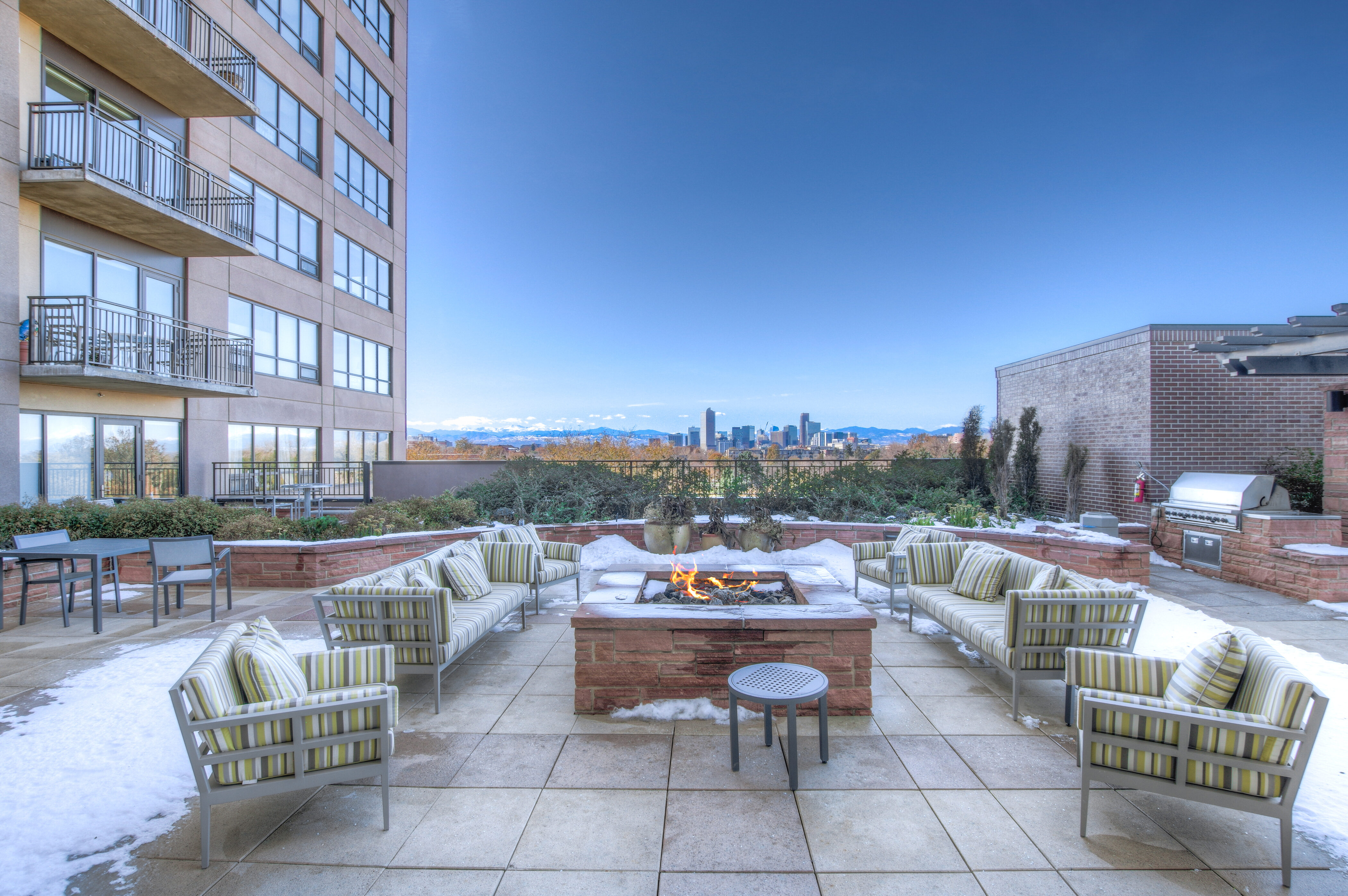 Denver Real Estate | View 2990 E 17th Avenue #2407 | 2990 E 17th Ave 2407 Denver CO-print-071-034-Private Lounge Area  Firepit-4200x2793-300dpi